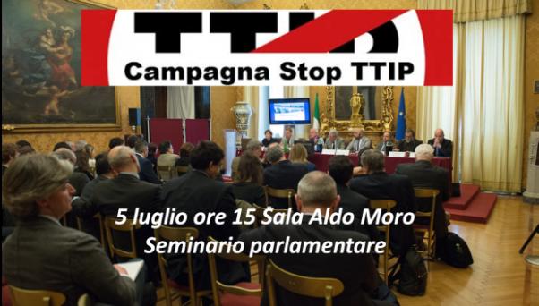 Seminario parlamentare stop ttip